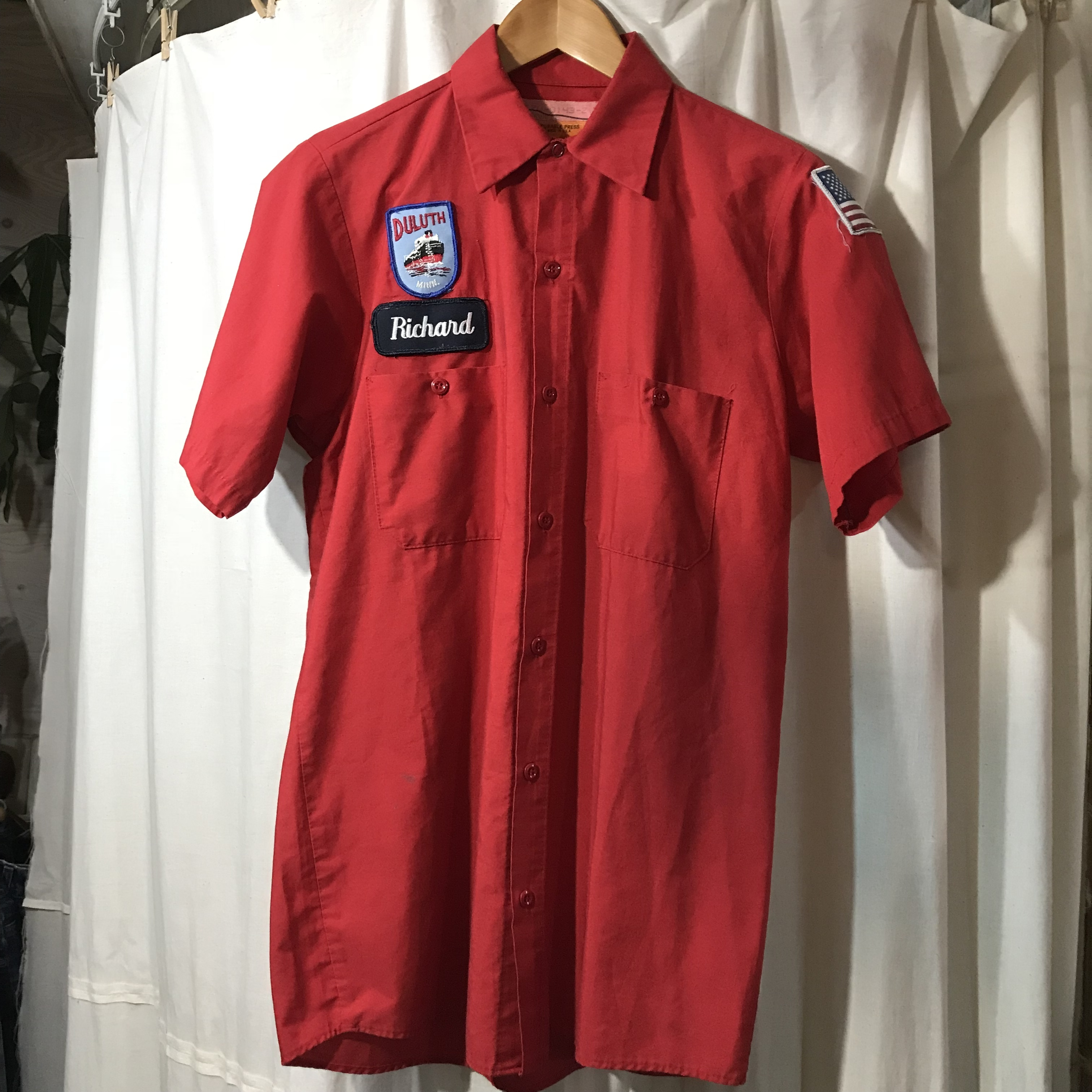 RED CAP ワークシャツ メンズS