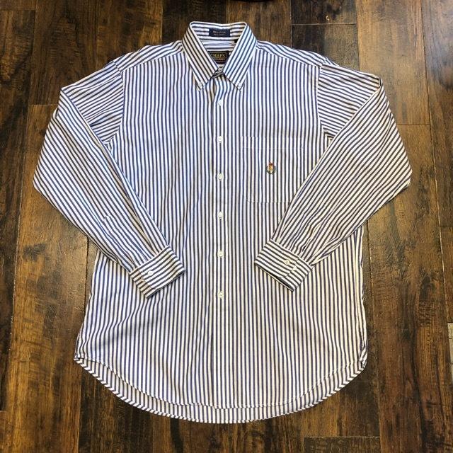 Chaps By Ralph Lauren Stripe Button Down Shirts