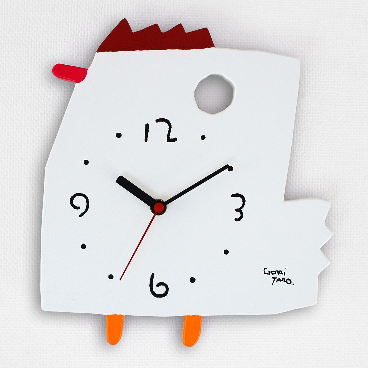 絵本作家 五味太郎 オリジナル時計・クロック「にわとり」