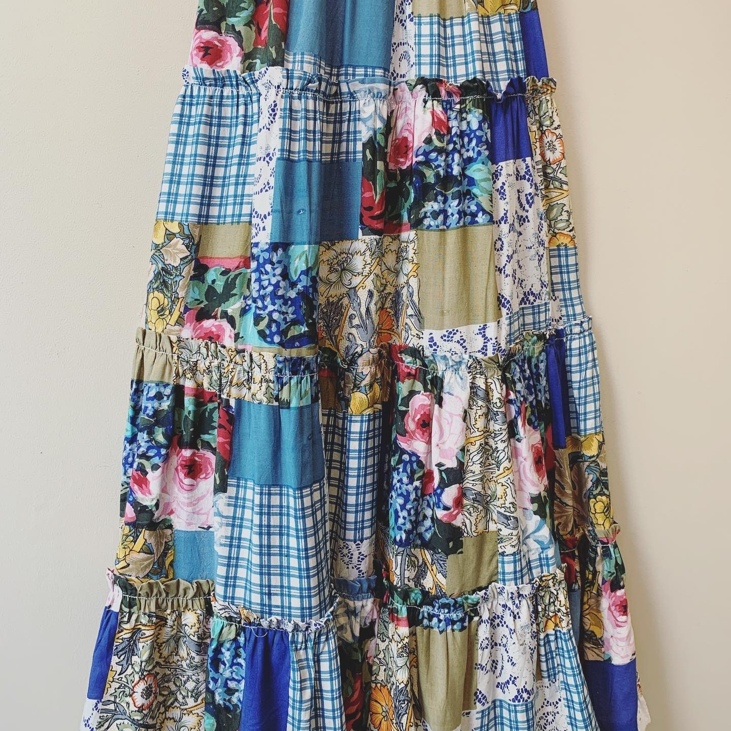 vintage patchwork skirt