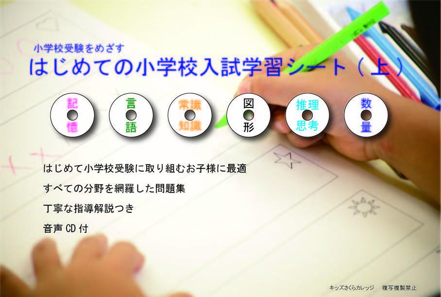 はじめての小学校入試学習シート(上巻)