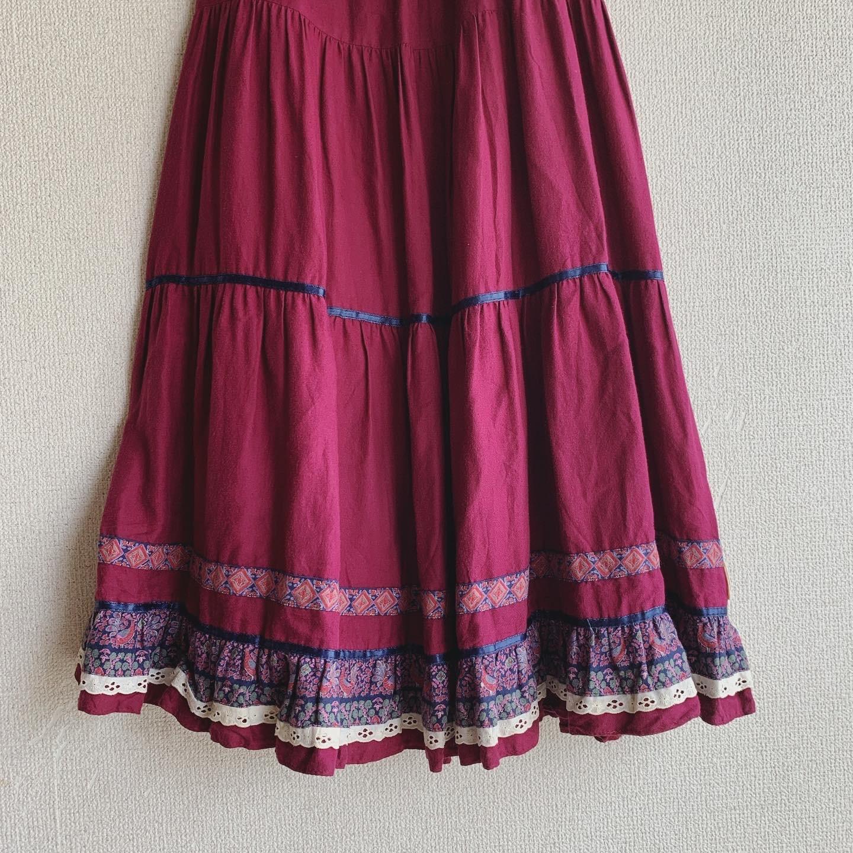 【SALE】vintage tyrol pink skirt