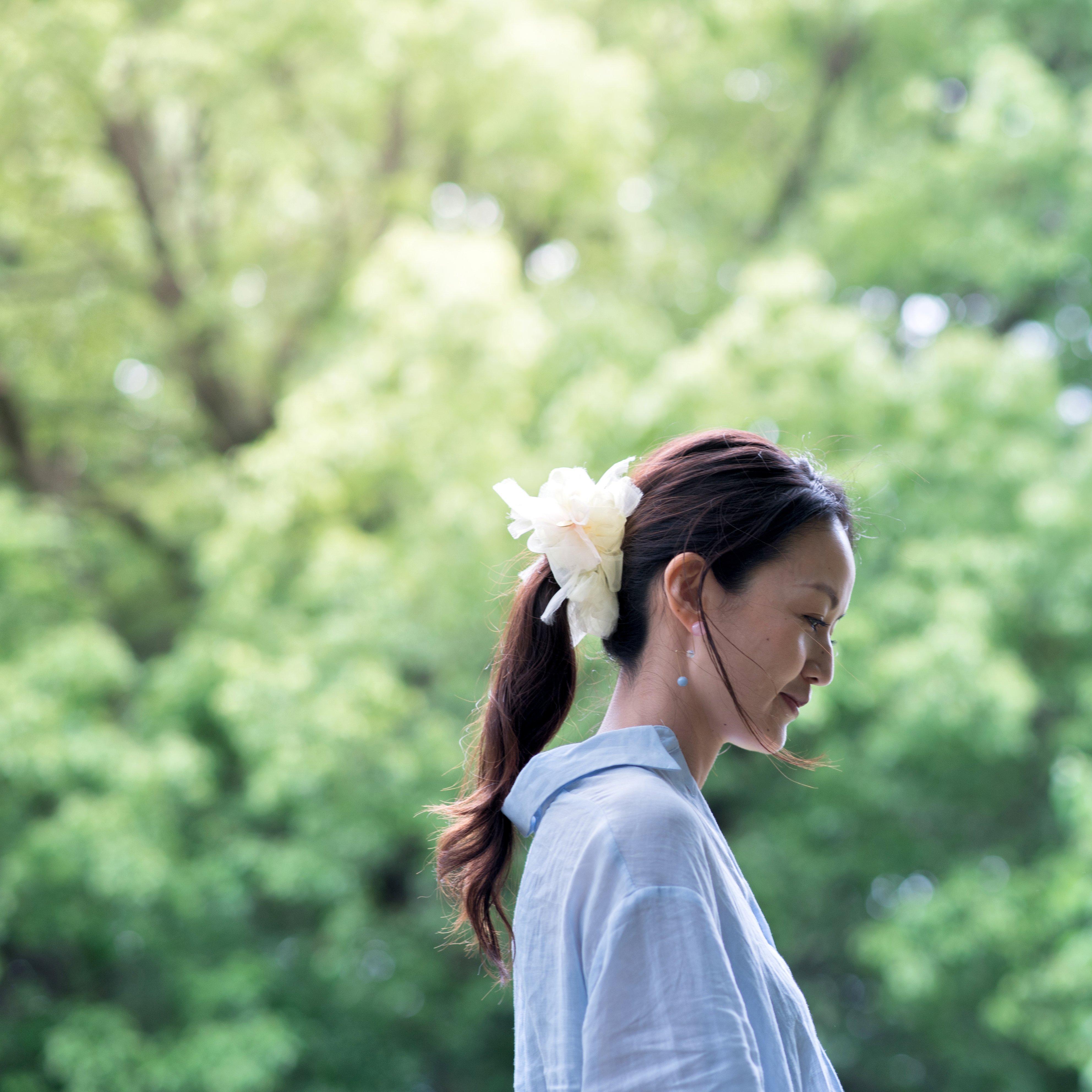 タンポポ~彩る咲き編みシュシュ