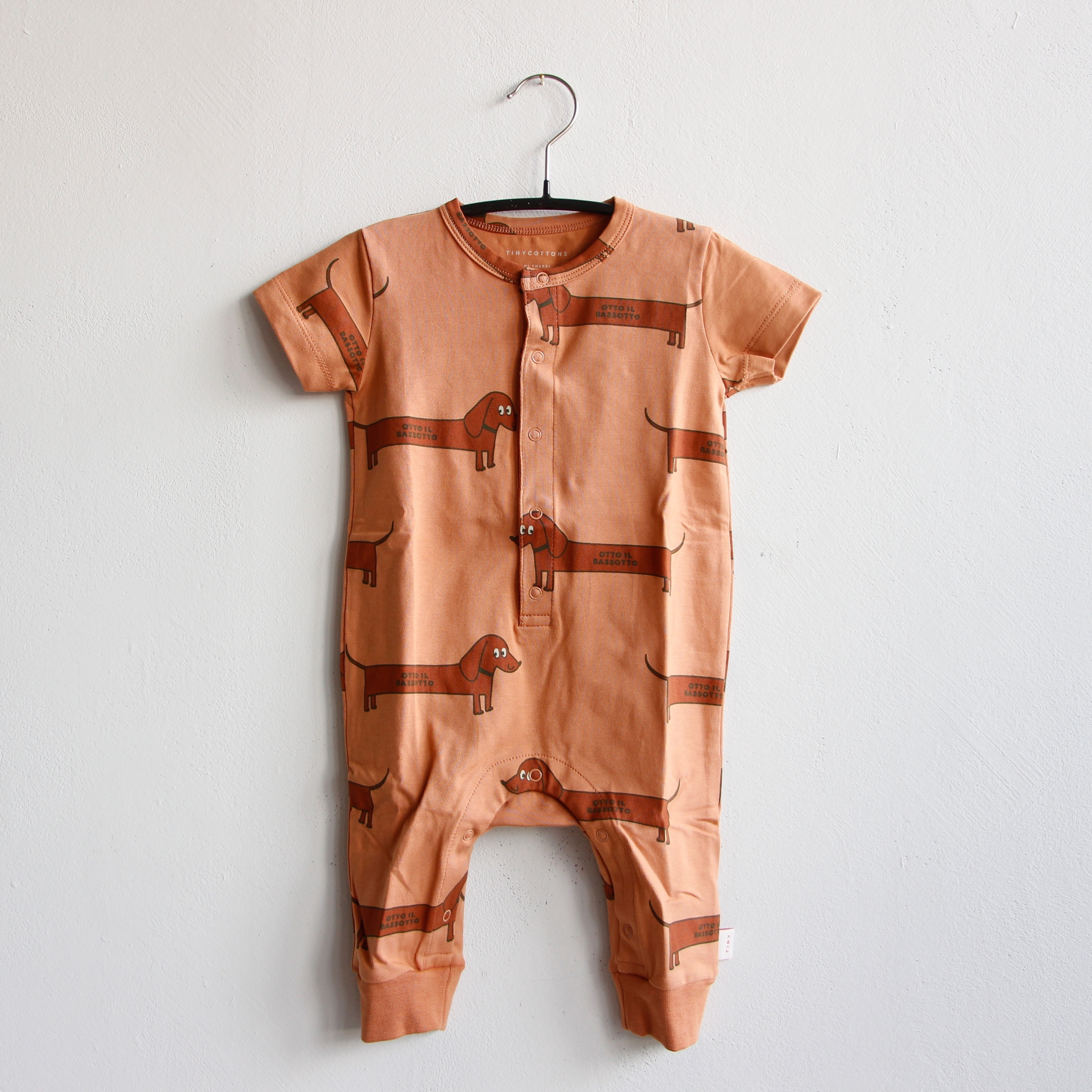 《TINYCOTTONS 2020SS》IL BASSOTTO ONE-PIECE / tan × dark brown