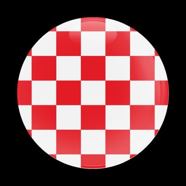 ゴーバッジ(ドーム)(CD0444 - FLAG CHECKER-RED) - 画像1