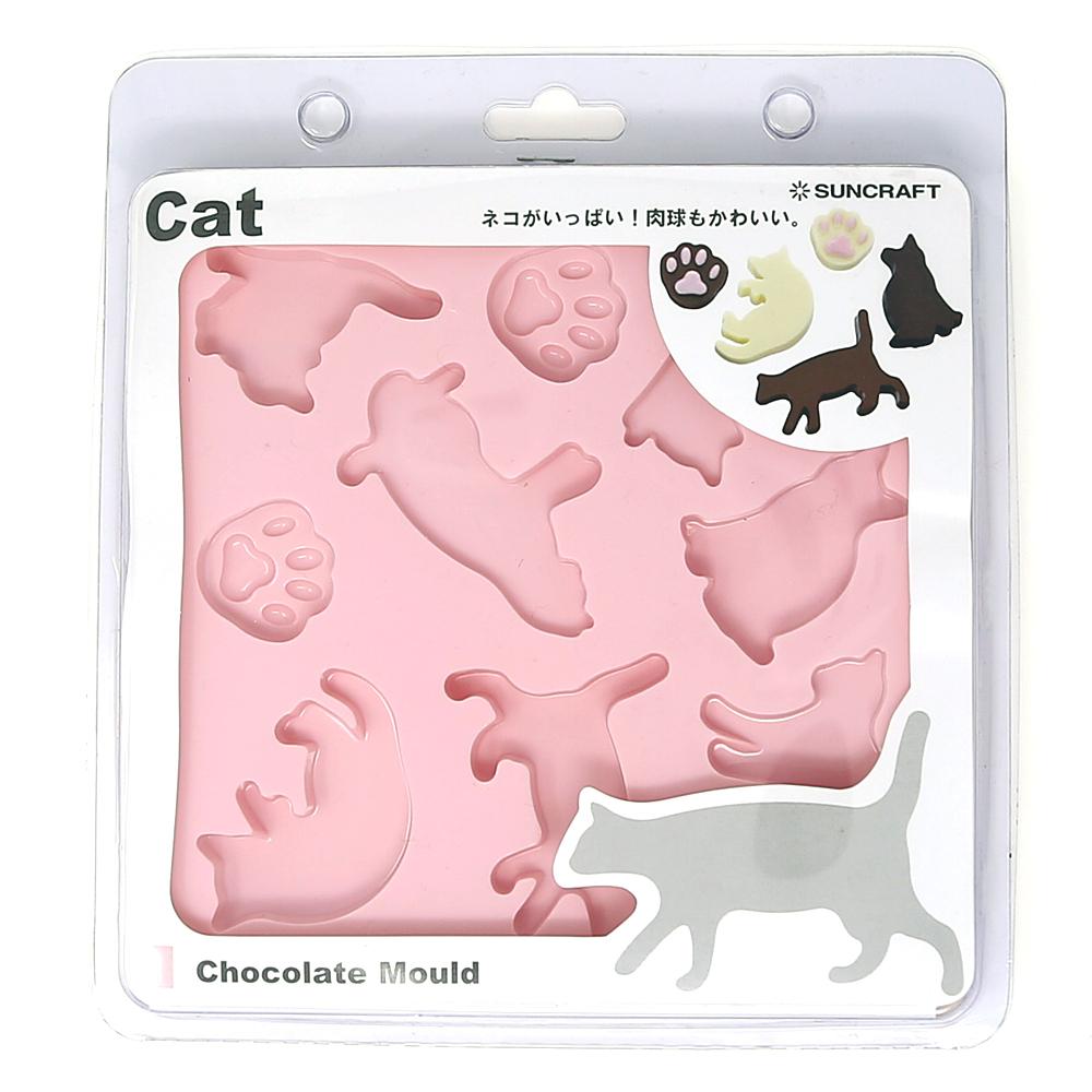 猫チョコレート型(ネコチョコレートモールド)