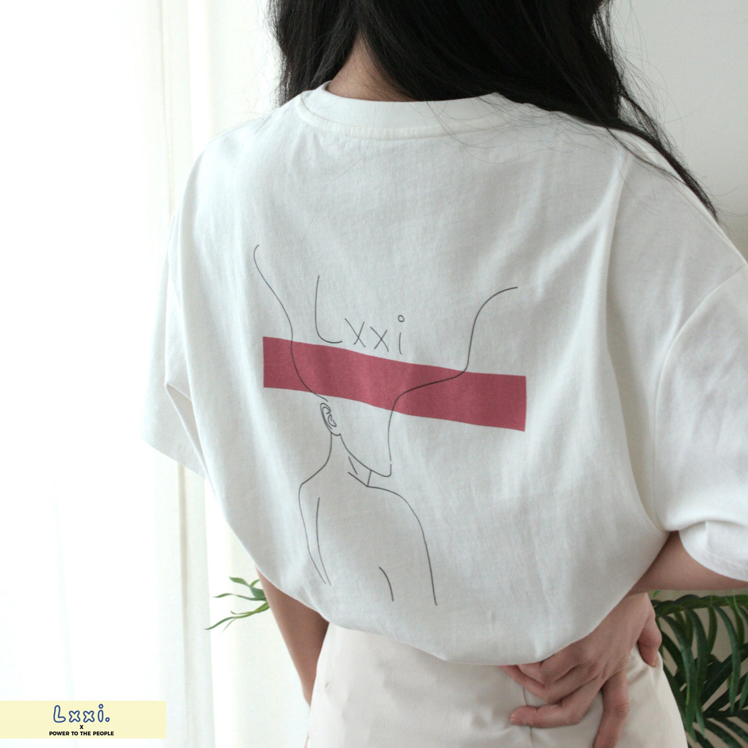 バックプリントオーバーシルエットTシャツ【Lxxi】 NO0512150