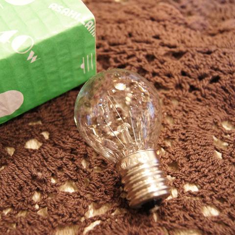 白熱電球 E17 40W クリア