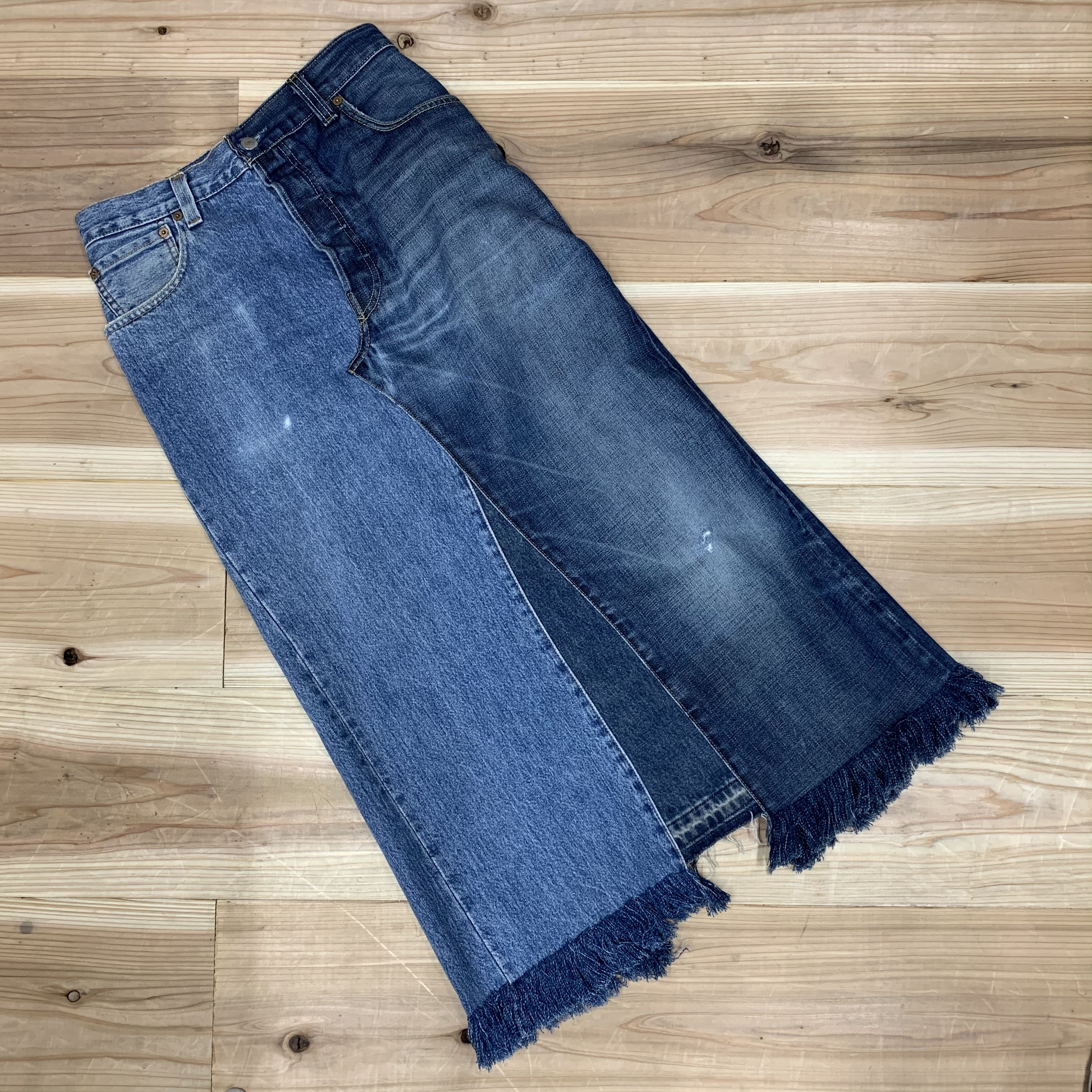 CaNARi original remake denim skirt