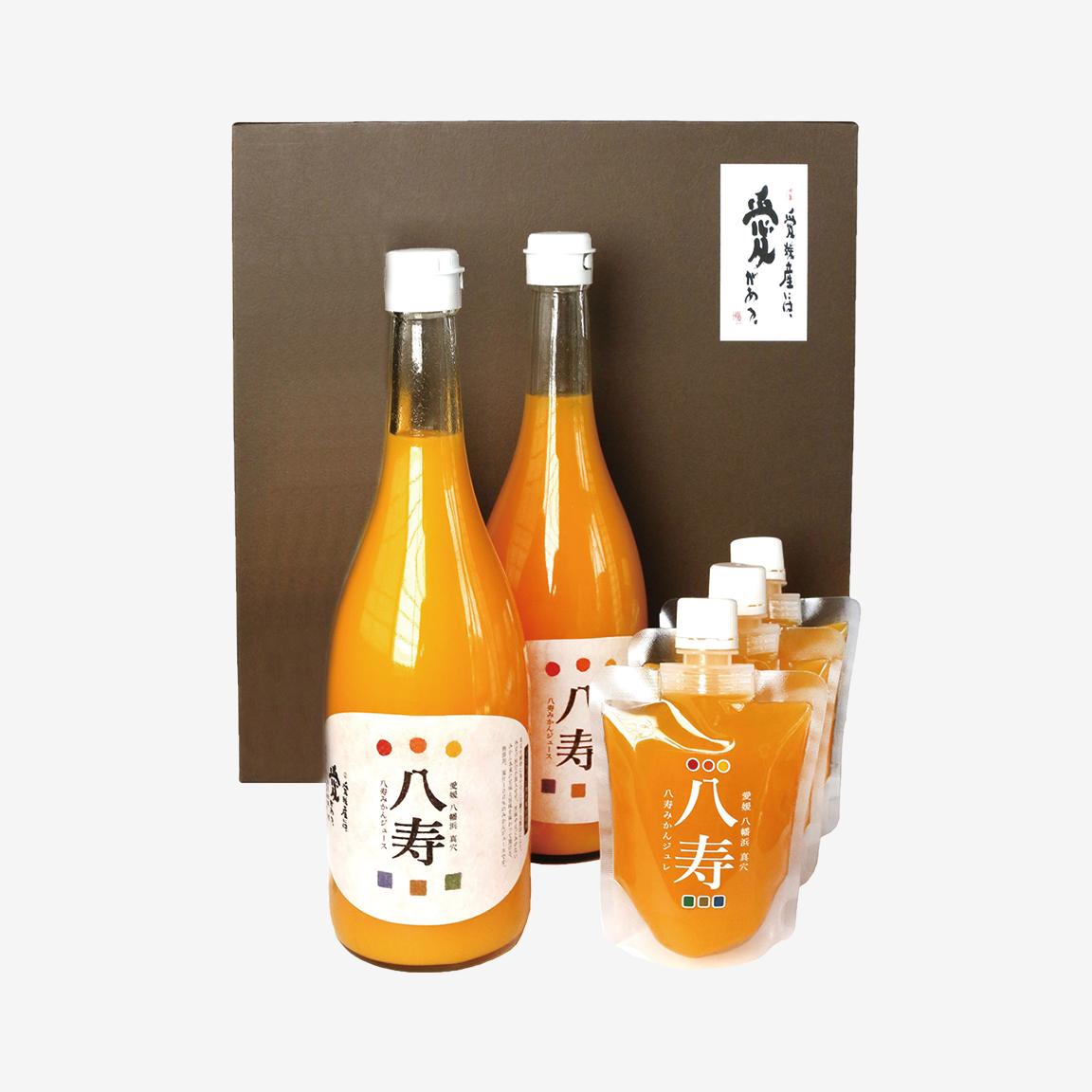 八寿みかんジュース&ジュレ ギフトセット(ジュース2本、ジュレ3個)