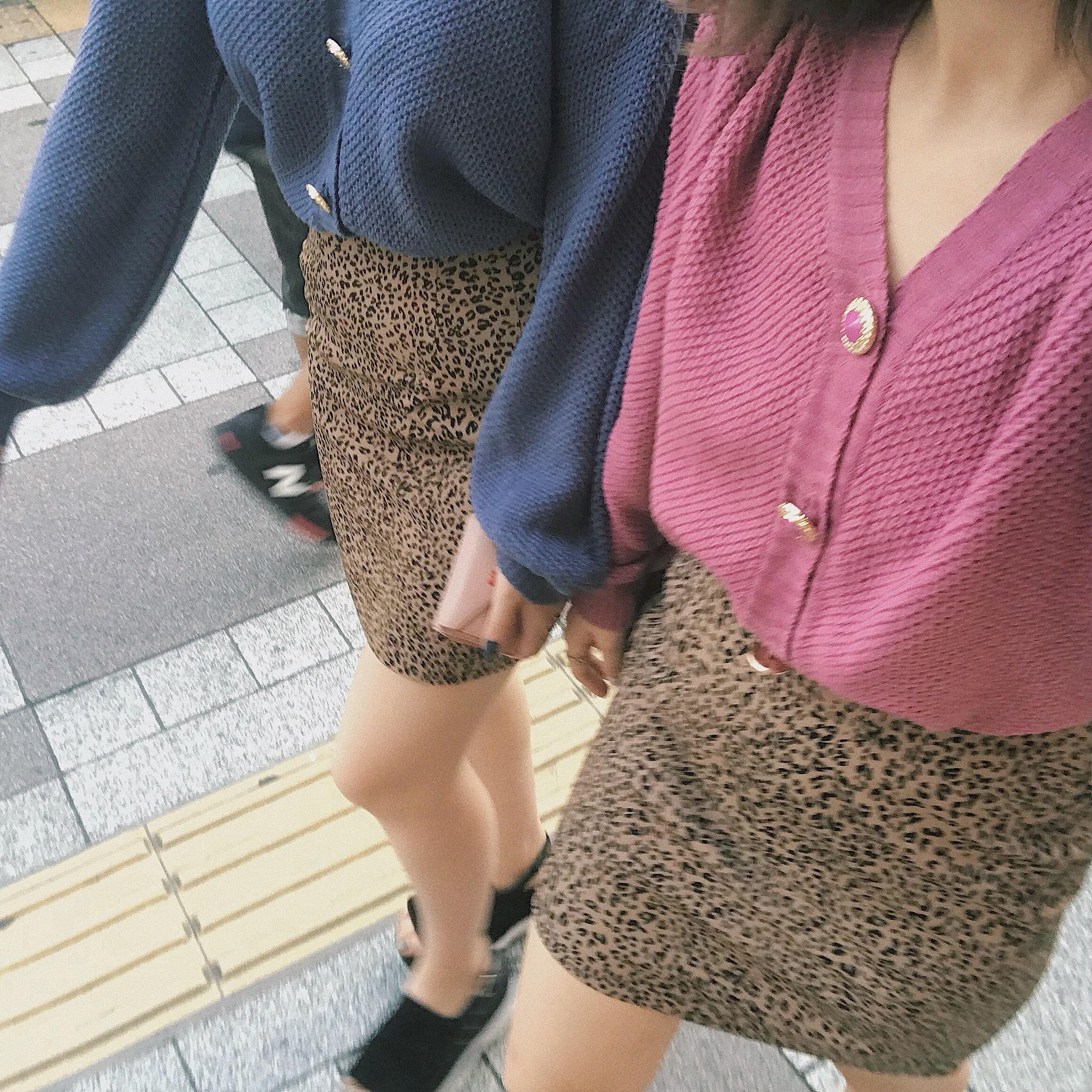 ♡Natural leopard skirt