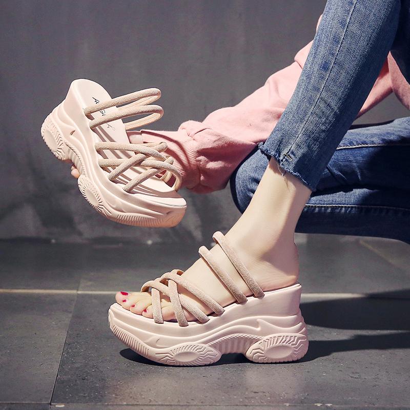 【shoes】ハイヒール無地合わせやすいサンダル27110824