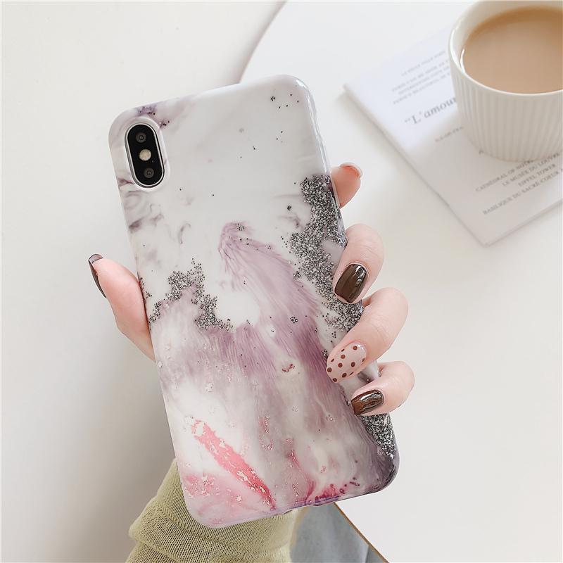 【お取り寄せ商品、送料無料】パステルカラー おしゃれ 大理石用 ソフト iPhoneケース
