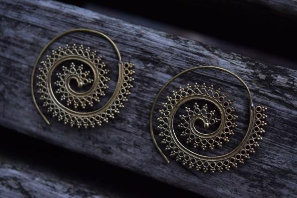 真鍮ピアス -波- 【India】