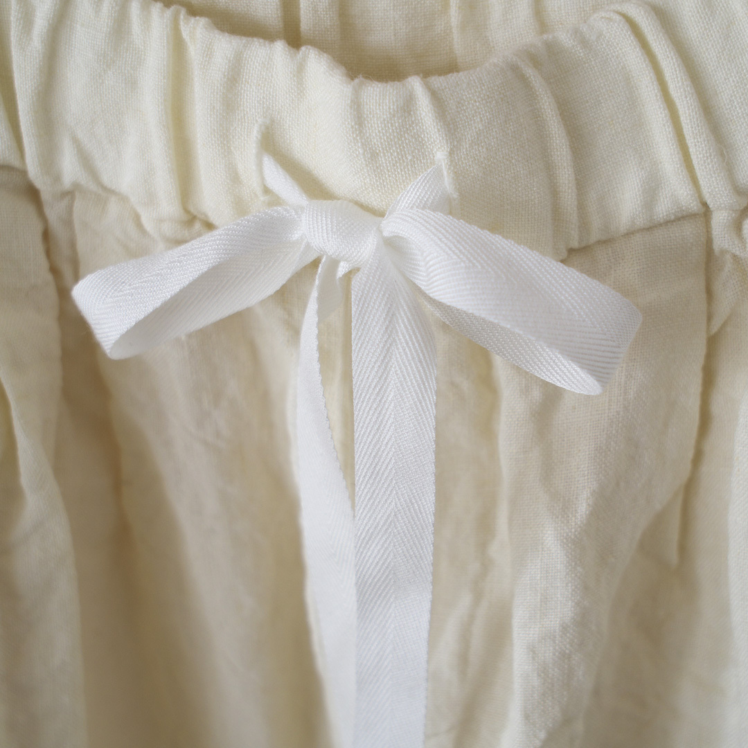 Gauze# ガーゼ linen roomy pant リネンルーミーパンツ・ホワイト