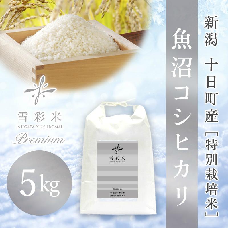 【雪彩米Premium】十日町産 特別栽培米 新米 令和2年産 魚沼コシヒカリ 5kg