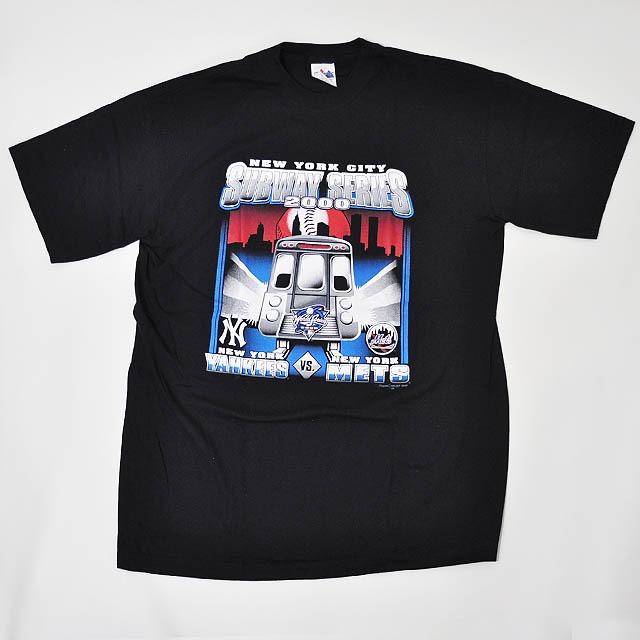 【Dead Stock】Majestic 2000 World Series New York City Subway Series  Yankees vs Mets T-shirt