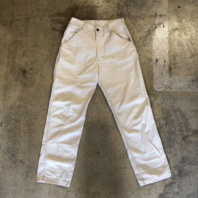 50's SMITH WHITE PAINTER PANTS #BT-092