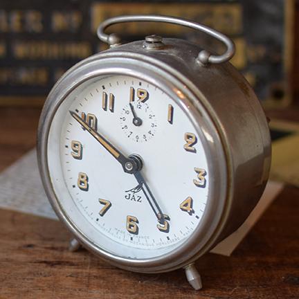 フランス 1950年代頃 JAZメタル置き時計