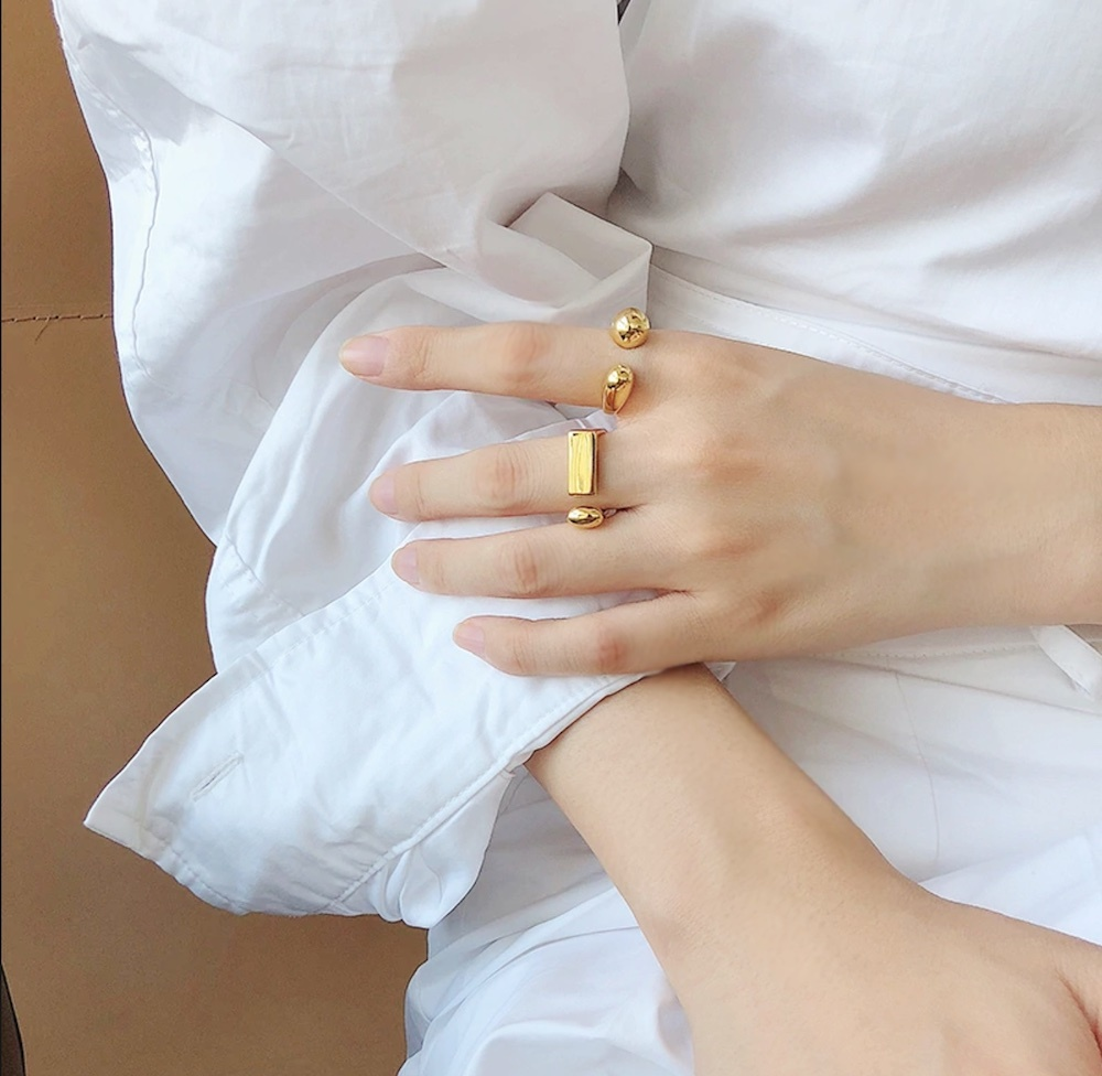 R1008 - Brass Ring - Rectangle