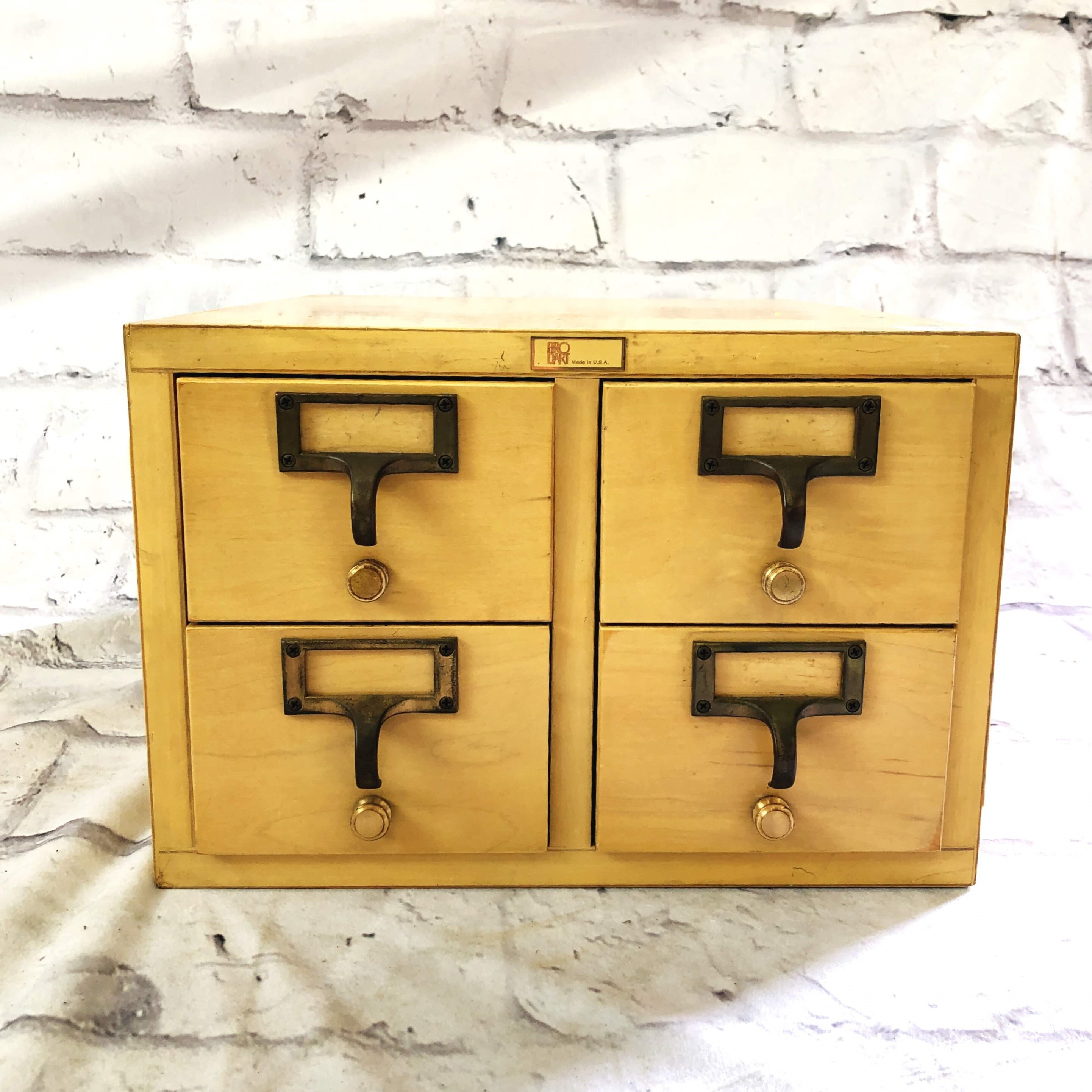 品番0990 BRODART 図書ケース ファイル キャビネット 引き出し 収納 棚 木製 インテリア 家具 アンティーク
