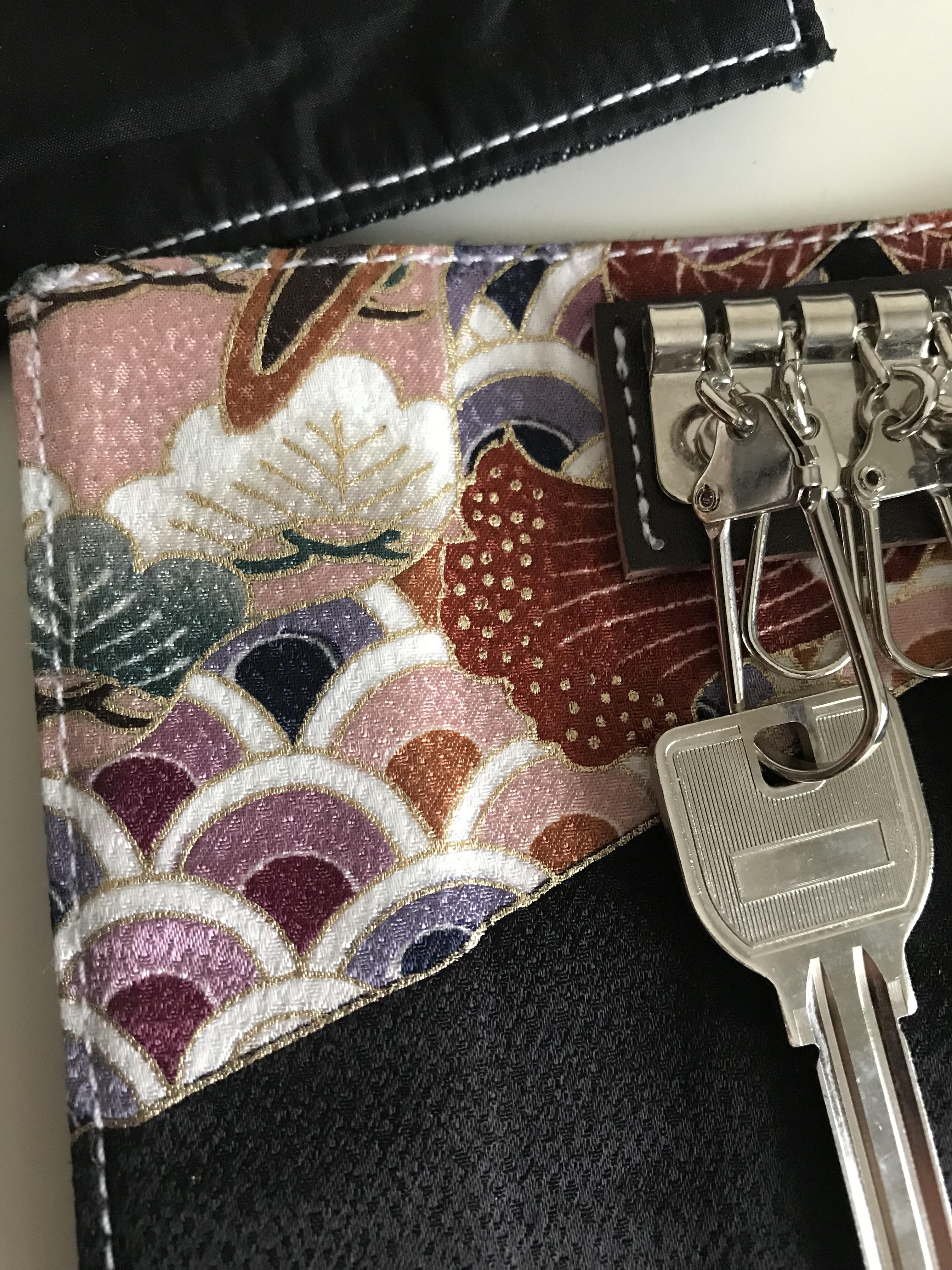 kimono  key case (青海波)