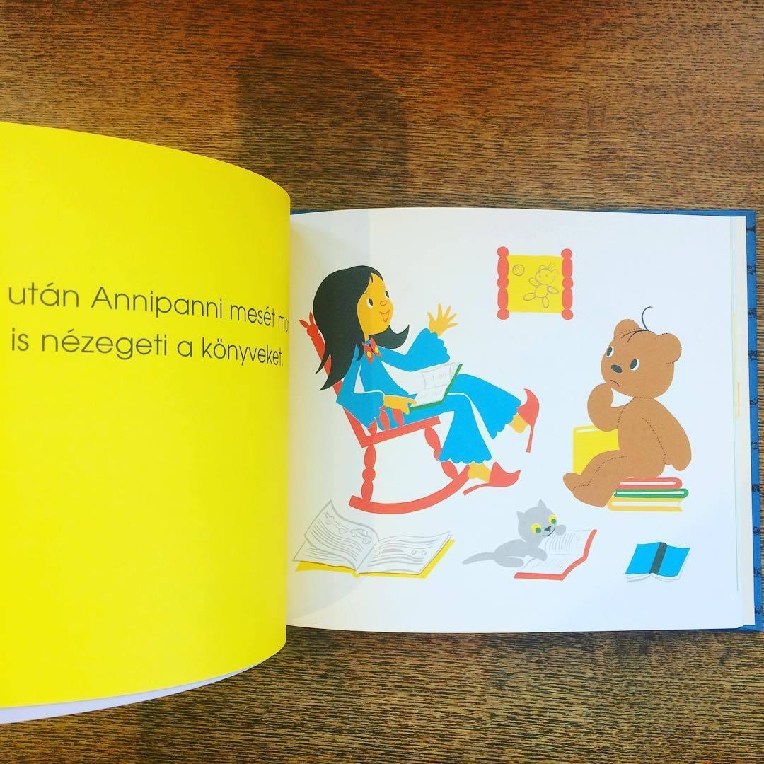 東欧ハンガリー絵本「おやすみ、アンニパンニ!/マレーク・ベロニカ」●ボリボン ブルンミ - 画像2
