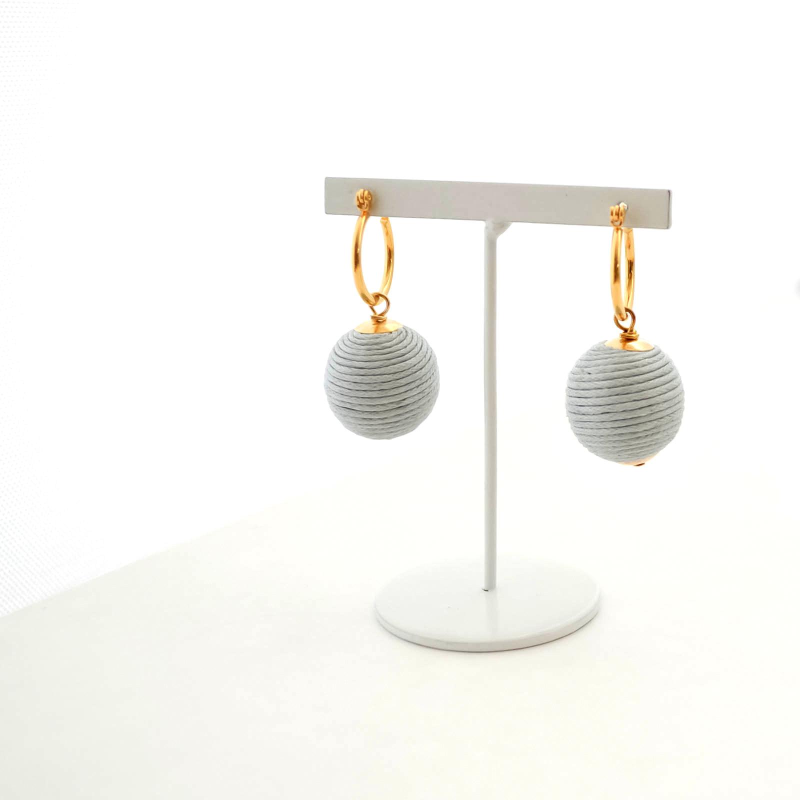 【期間限定】Cottoncode (gray) Pierces/Earrings