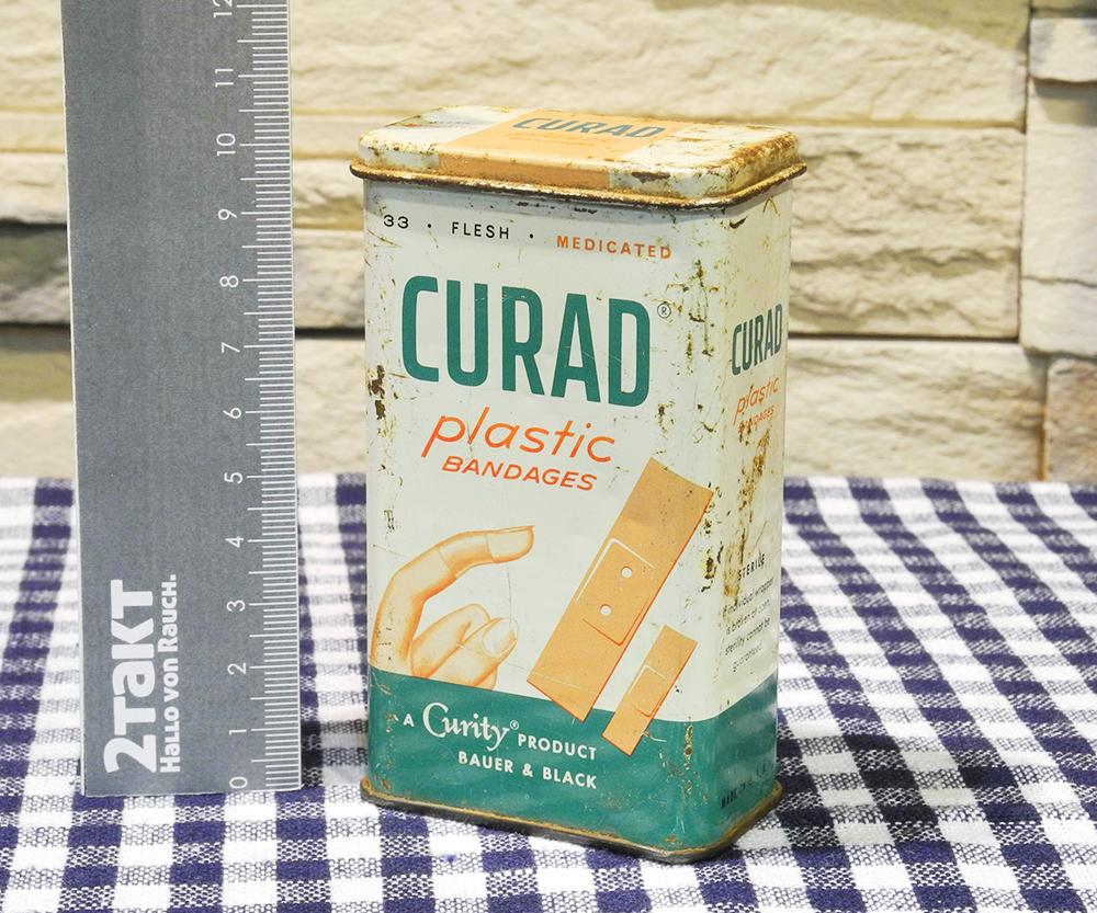 【Vintage/Used品】Vintage tin CURAD Plastic BANDAGES  ヴィンテージ缶/150