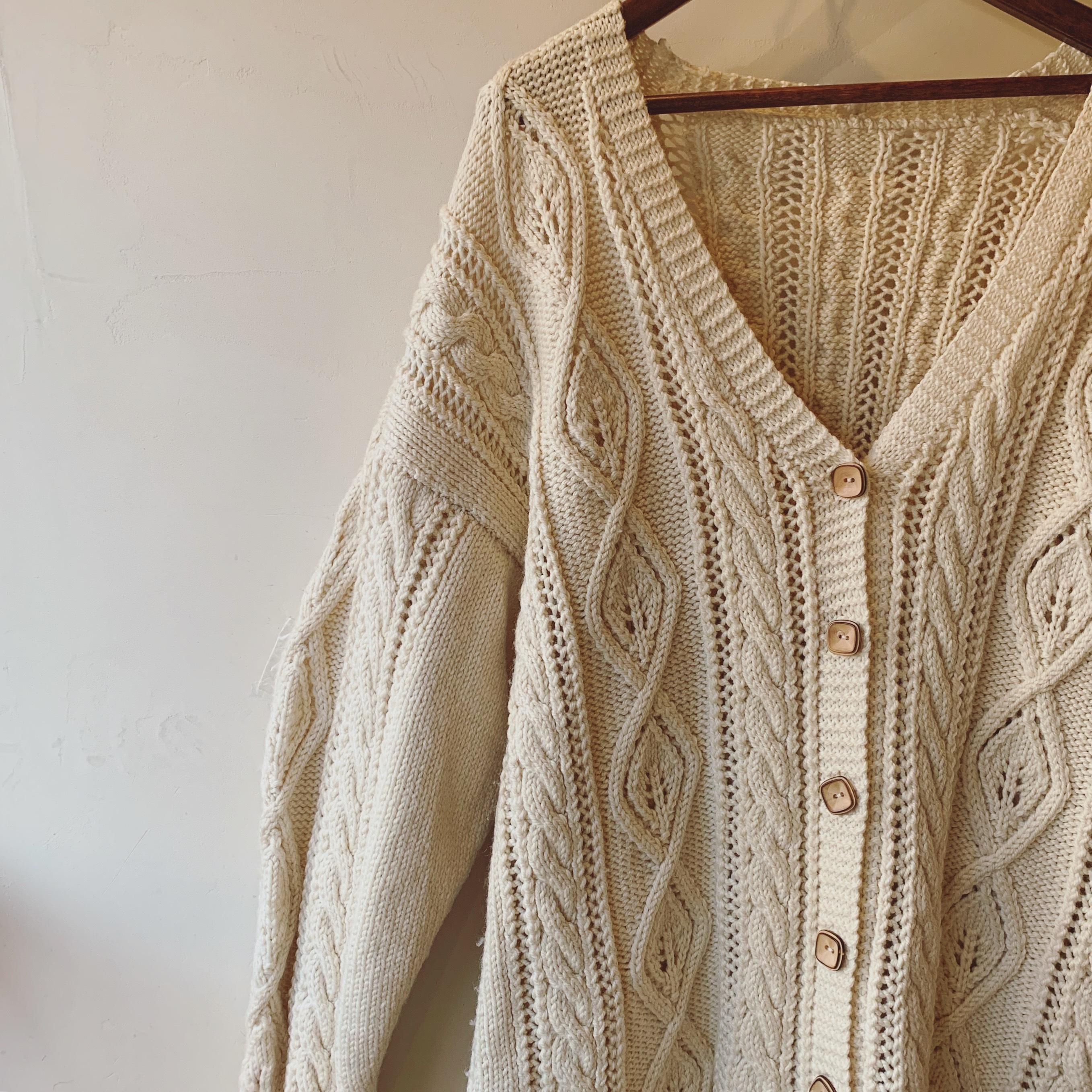 vintage wide sized knit cardigan