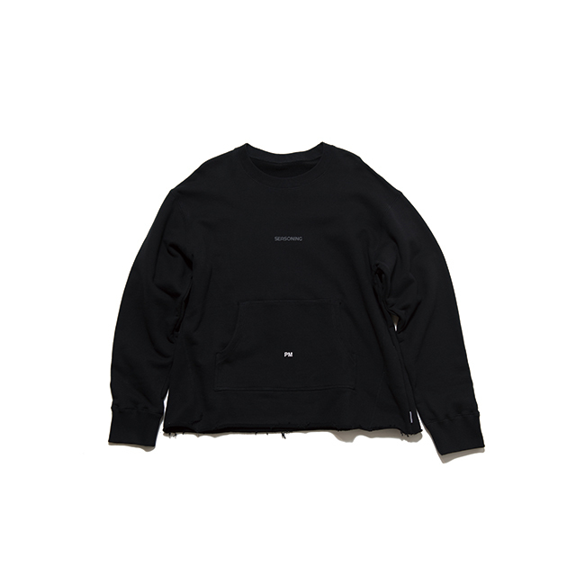 "SEASONING  SWEAT ""PM"" - BLACK"