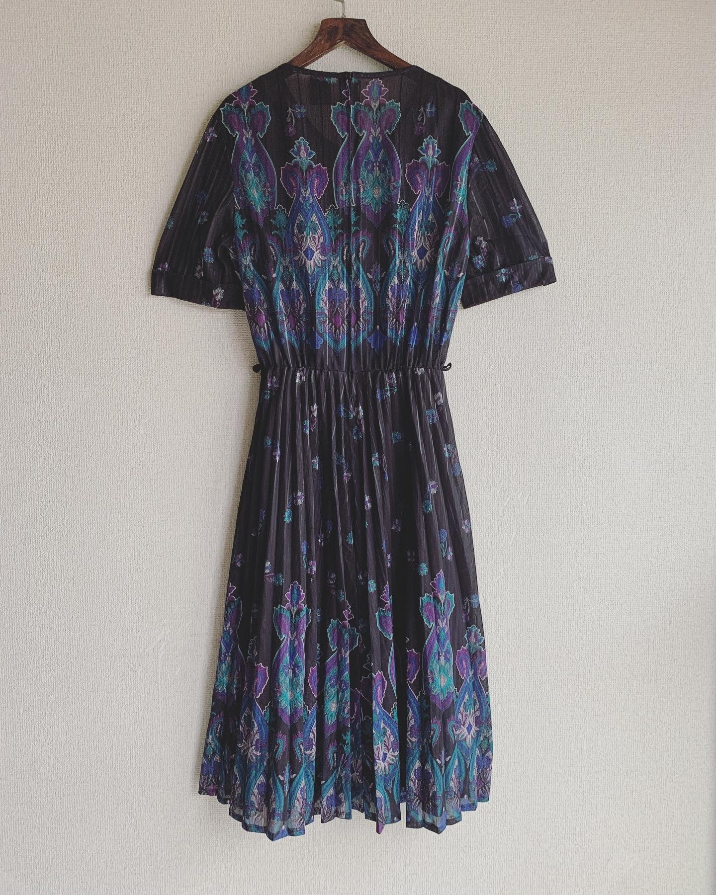 vintage paisley sheer onepiece