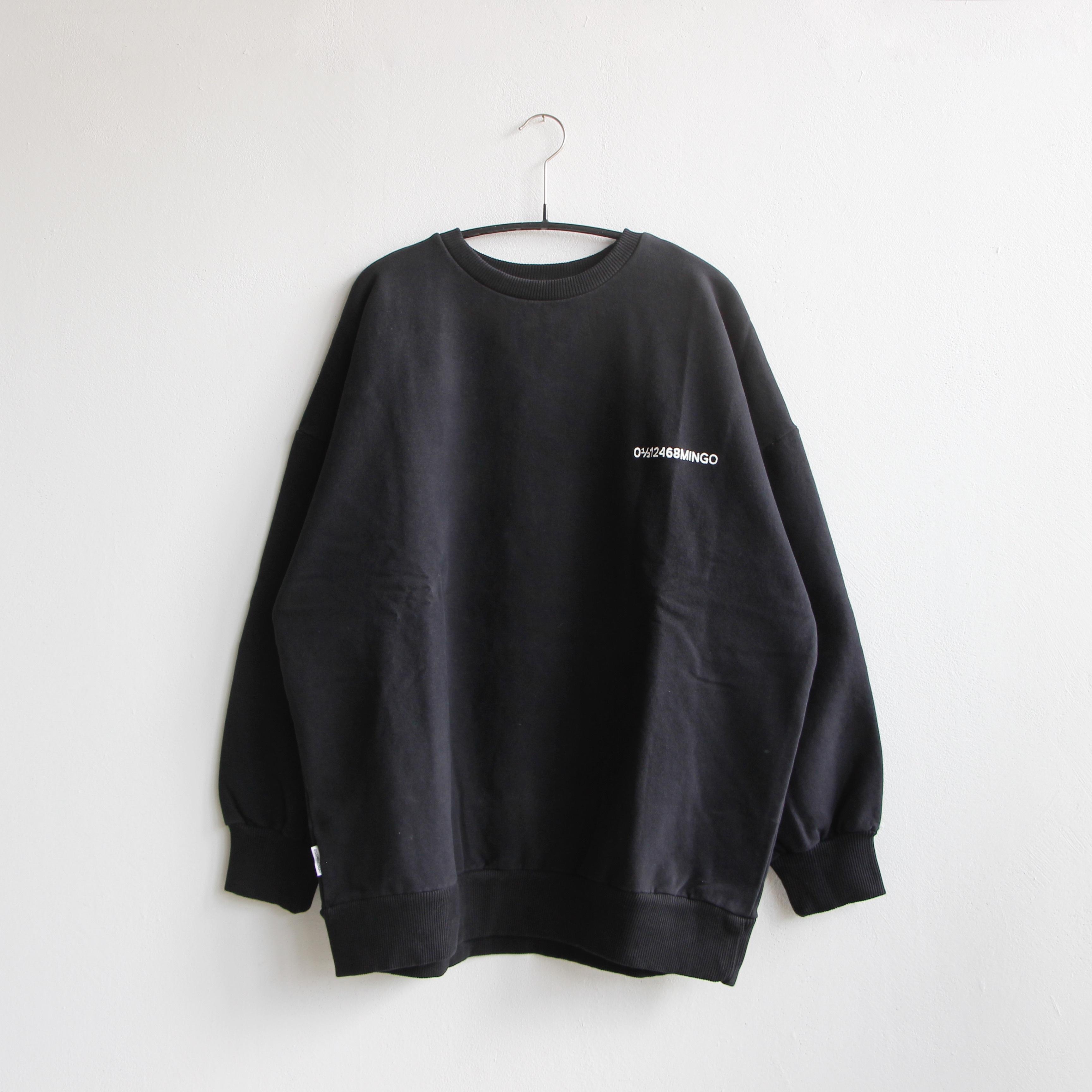 《MINGO. 2020AW》Sweater / logo black / adult