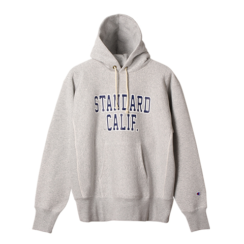STANDARD CALIFORNIA #Champion × SD Reverse Weave Hood Sweat Gray