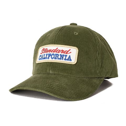 STANDARD CALIFORNIA #SD Logo Patch Corduroy Cap Olive