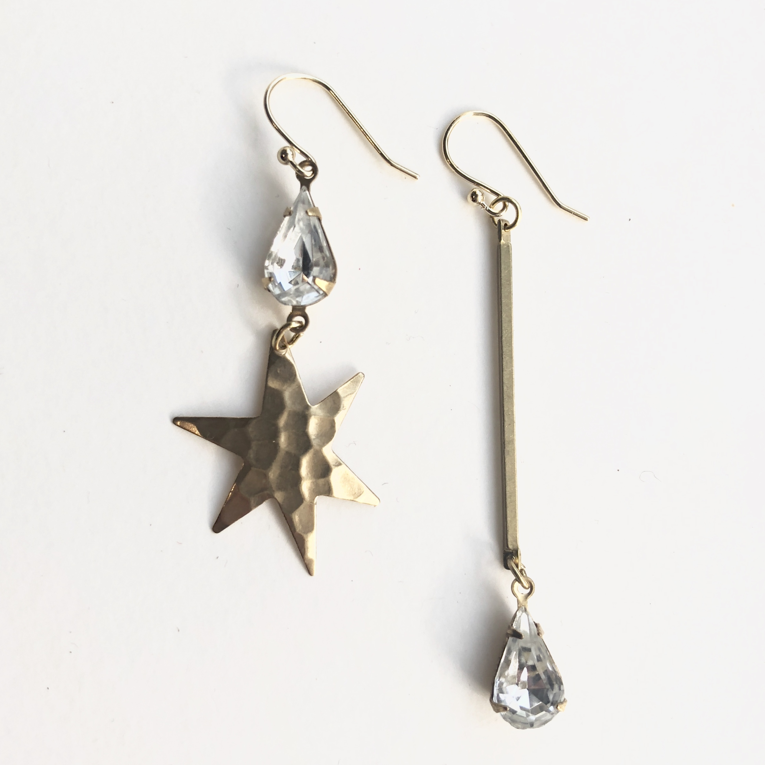 Starglass drop earrings G-001