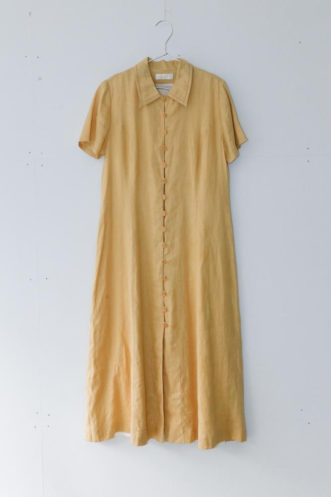 "90's ""DEVERNOIS"" Tellow Dress"