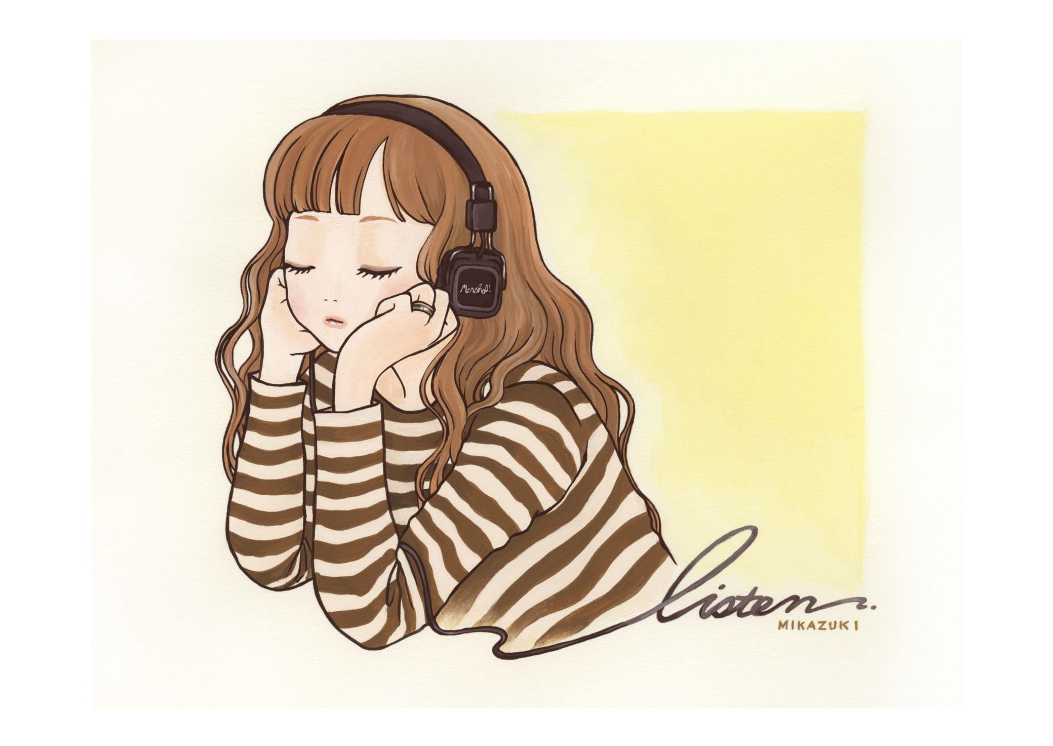 MIKAZUKI / ミカヅキ ミニポスター A4サイズ 「Listen」