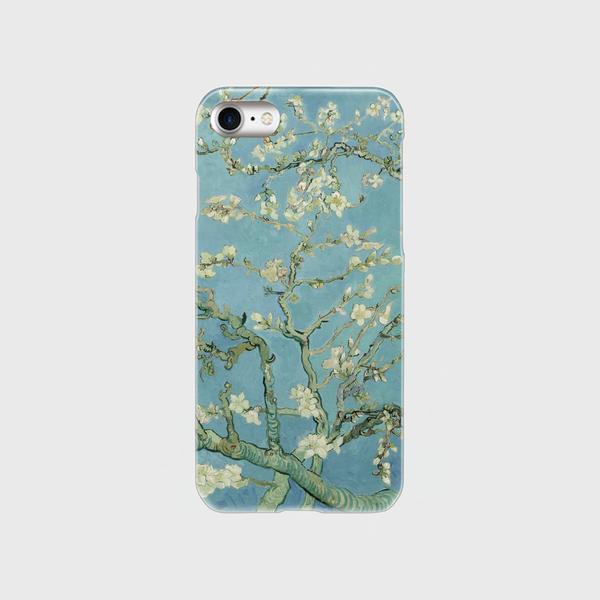 ゴッホ「花咲くアーモンドの木の枝」 スマホケース