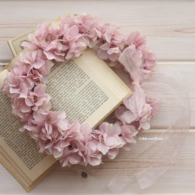 全25色花冠ボリュームアジサイM(7.MAUVE)【花かんむり】