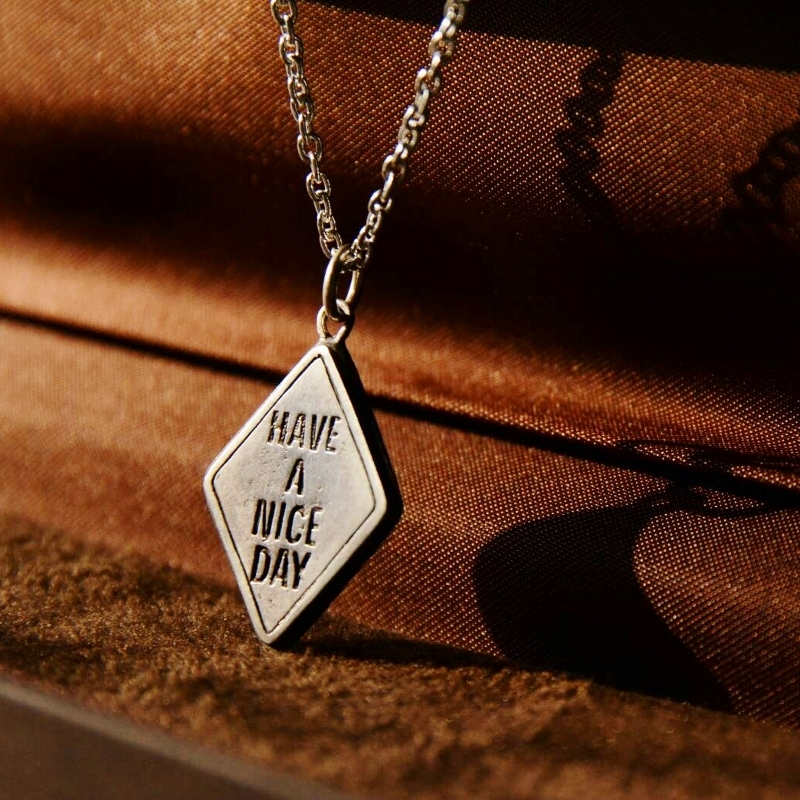 """【DARGO】""""HAVE A NICE DAY"""" Traffic Silver Necklace"""