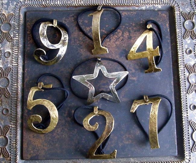 Numero & Star 2way Bracelet/数字と星のブレスレット兼ヘアーアクセサリー/真鍮製