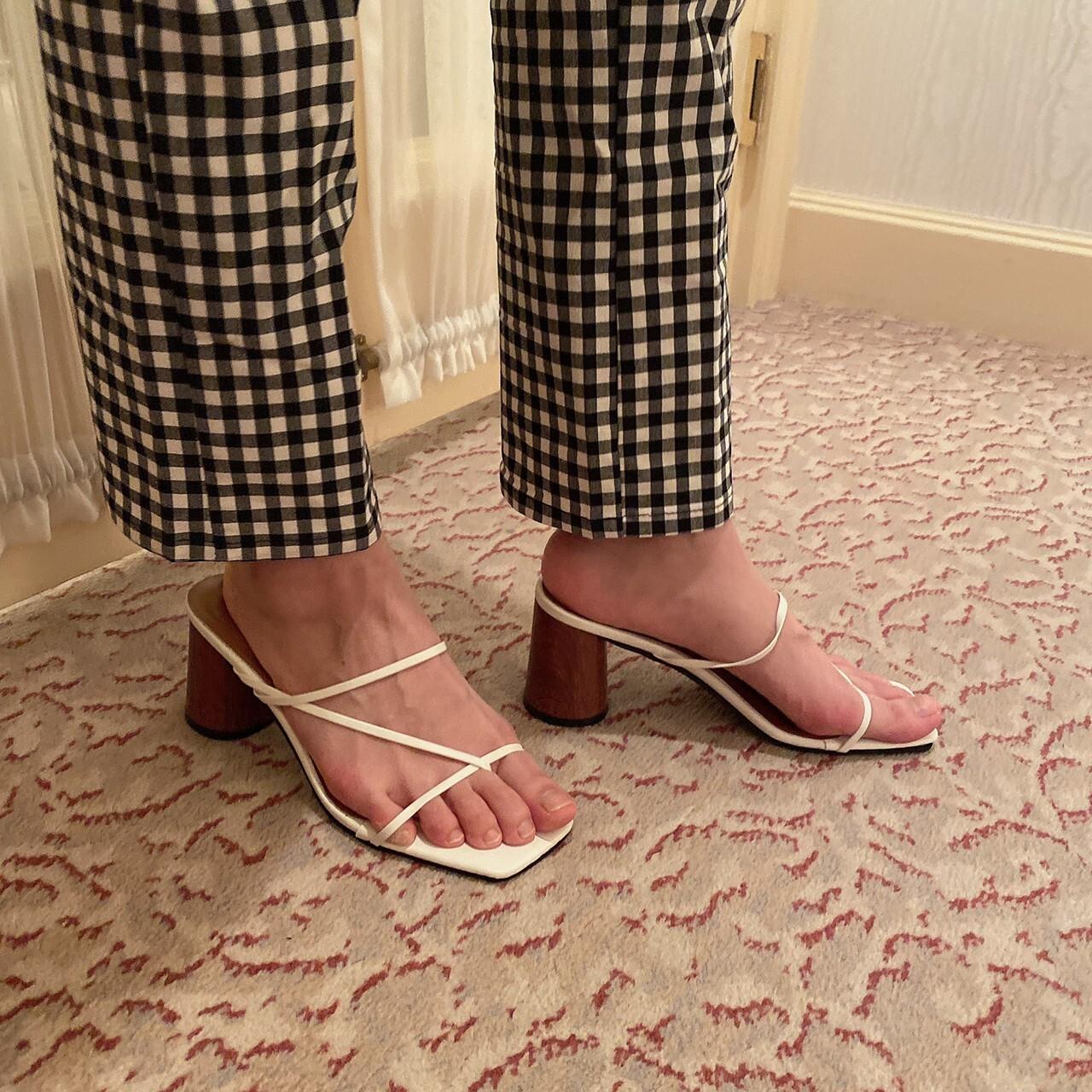 wood sole sandal