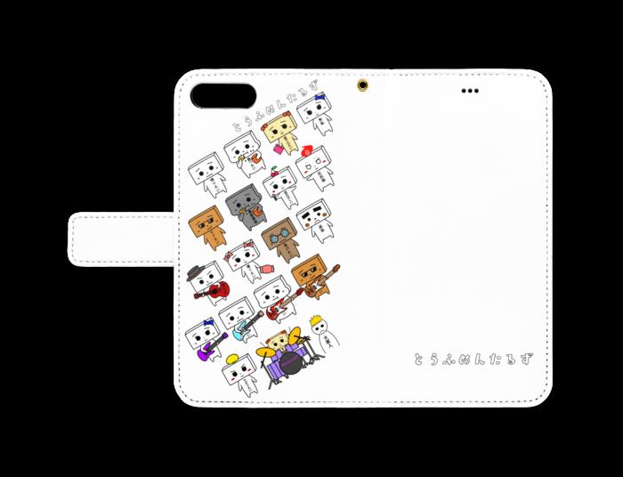 とうふめんたるずの日常 手帳型iPhoneケース 8 Plus / 7 Plus