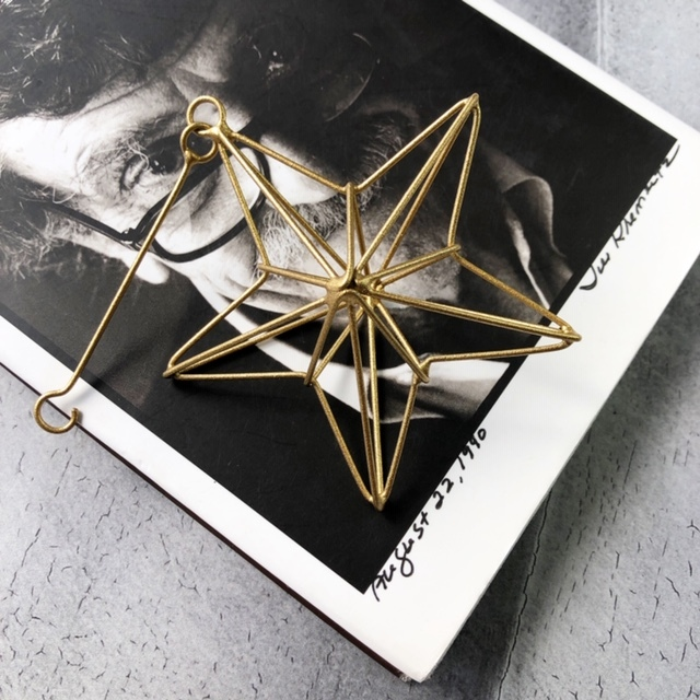Christmas wire ornament -リネアスター /GOLD-