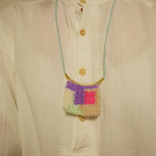 ≪オリジナル≫手織りネックレス【タイル】
