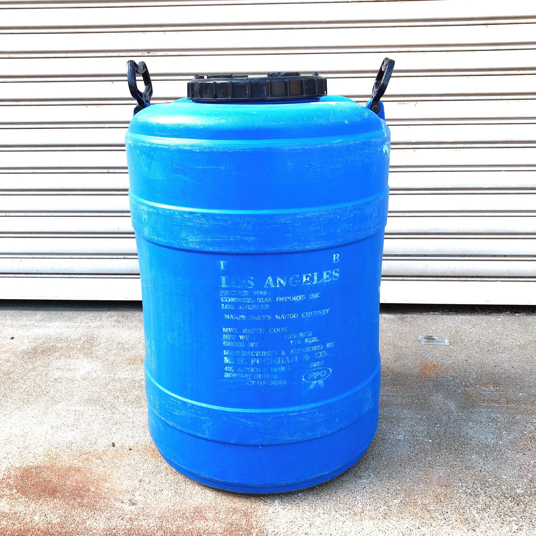 品番4226 L.A. ウォータータンク Water Tank 80L ブルー 取っ手付 ヴィンテージ