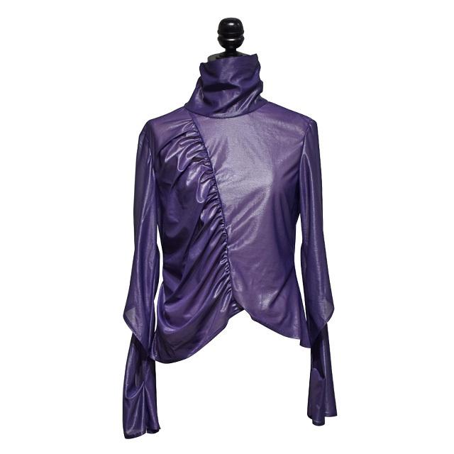 koll / espandy gathered high-neck / Purple