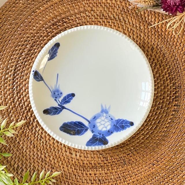 花もよう(ザクロ)いげ皿(M)