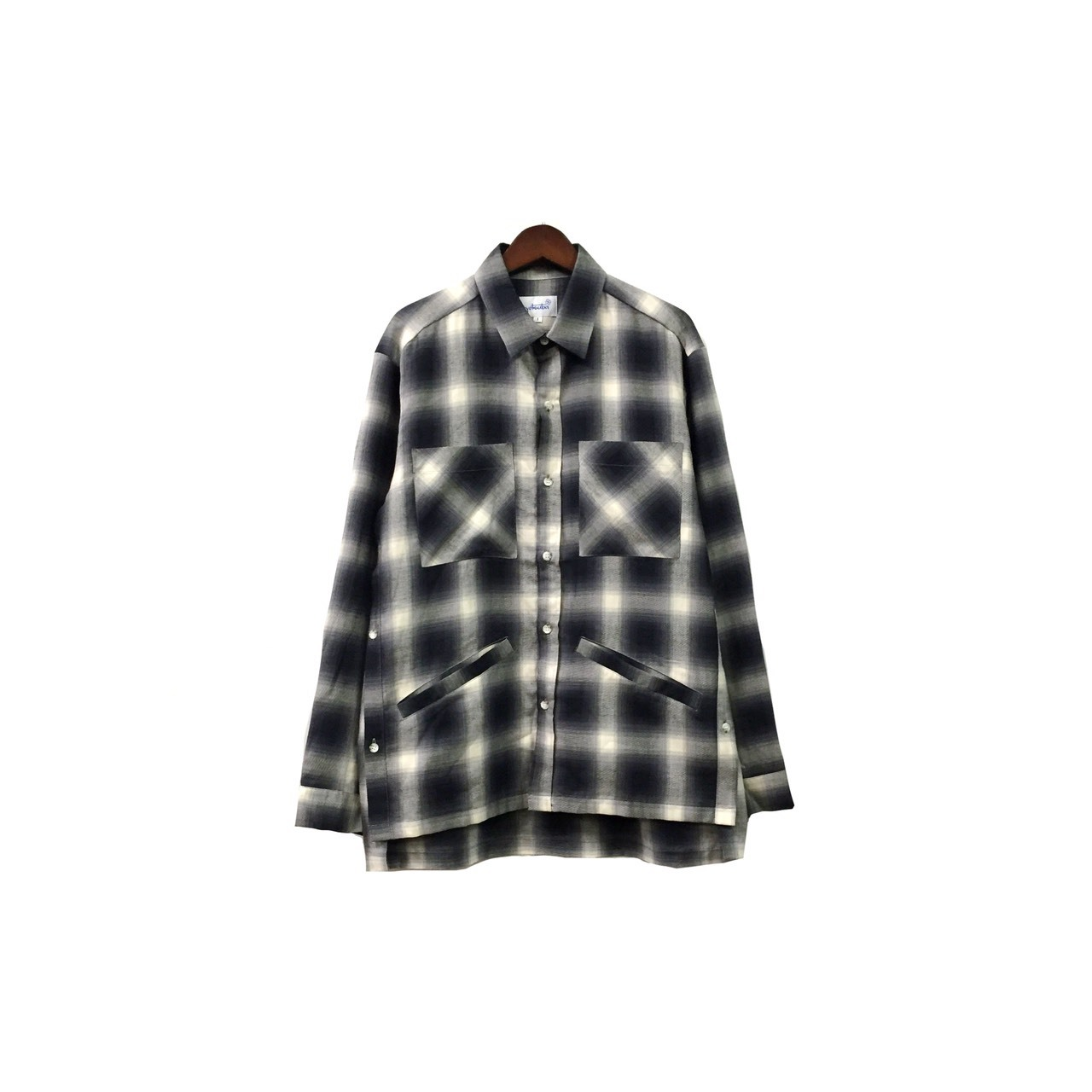 yotsuba - Cotton & Rayon Check Shirt / Black ¥22000+tax
